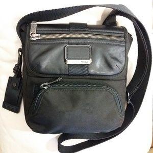 Tumi Bravo Crossbody Ballistic Nylon Leather Bag